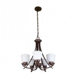 C2025-5/CO Candil satinado de 5 luces perfecto para iluminar espacios amplios