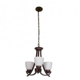 C2027-3/CO Candil color chocolate de 3 luces, tu tamaño es perfecto para cualquier habitación