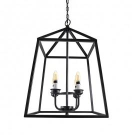 C2028-4/N Lámpara en forma de jaula de 4 luces de estilo industrial retro