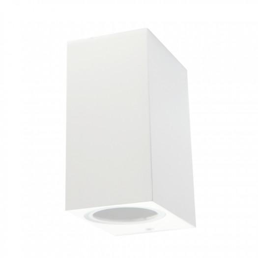 9268-GU10/BL Luminaria de aluminio en color blanco, emite luz hacia arriba y hacia abajo