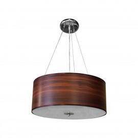 V2042 Lámpara colgante, el acabado tipo madera y su base de cristal hacen a esta luminaria una de las mas sofisticadas
