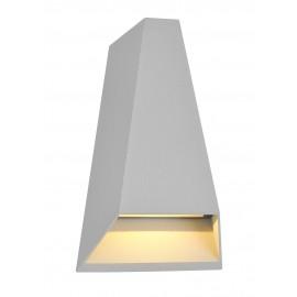 1620-LED/GR Luminaria LED para muro en gris, ilumina hacia arriba y hacia abajo aportando profundidad a los muros