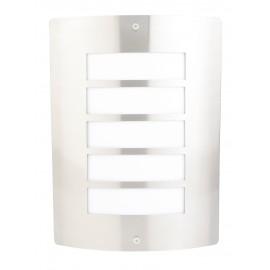 8143 Lámpara de pared de exterior fabricada en acero inoxidable, la aliada perfecta para alumbrar jardines y terrazas