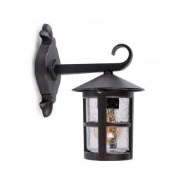 6512 Lámpara estilo farol de aluminio, perfecta para iluminar y dar un aire rustico