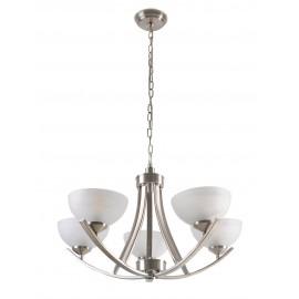 96235-5 Candil de 5 luces, esta luminaria aporta un estilo contemporáneo en cualquier estancia