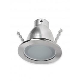 EM2020C-E27/S Luminaria de empotrar en techos, su color satín con cristal la vuelven ideal para los espacios con buen gusto