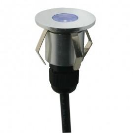 0120-LED/AZ Luminaria LED para empotrar en piso que emite luz azul , da el toque perfecto a cualquier proyecto