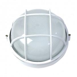 5001/B Lámpara tipo náutica para muro o techo de aluminio en color blanco, en cualquier espacio queda perfecta