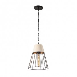 C097/CC Lámpara colgante, el acero negro y el concreto hacen única a esta lampara un elemento unico en tu decoración