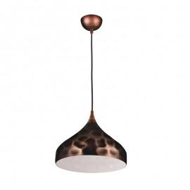 C214/AN Lámpara en color antik, esta lampara compuesta de una campana de aluminio proporciona un aire vintage único