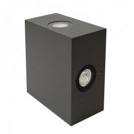 8720-LED/GF Luminaría LED para muro, ilumina hacia sus cuatro lados, ideales para colocar varias y hacer figuras y trazos