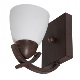 A2028-1/CO Lampara de muro para interior, su color chocolate la hace combinable con todo