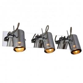 HS-5018-3 Luminaria de interior para muro, su terminado color humo imprime elegancia a su presentación