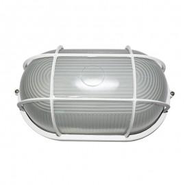 5021/B Lampara blanca de techo o muro de aluminio, sencillo y practico